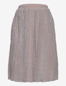 Drew Plisse Skirt - röcke - silver