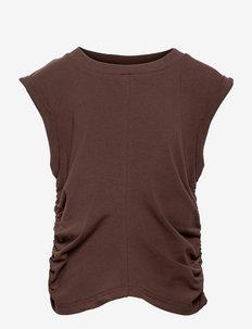 Kiwam SS Tee - sleeveless - brown