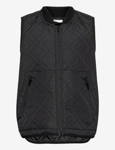 Yres Quilt Waistcoat - veste - black