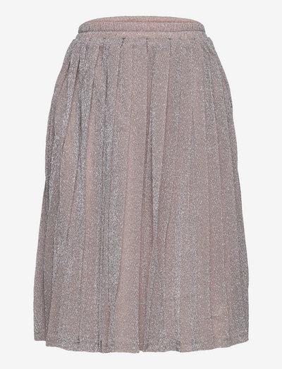 Drew Plisse Skirt - skirts - silver