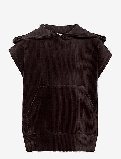 Usan West Sweat - vests - brown