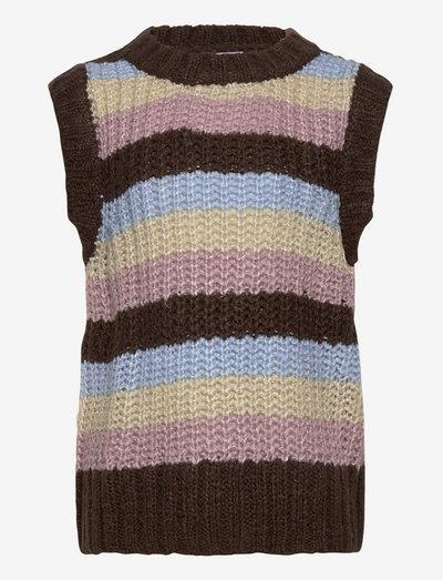 Martint Vest Knit - vests - brown