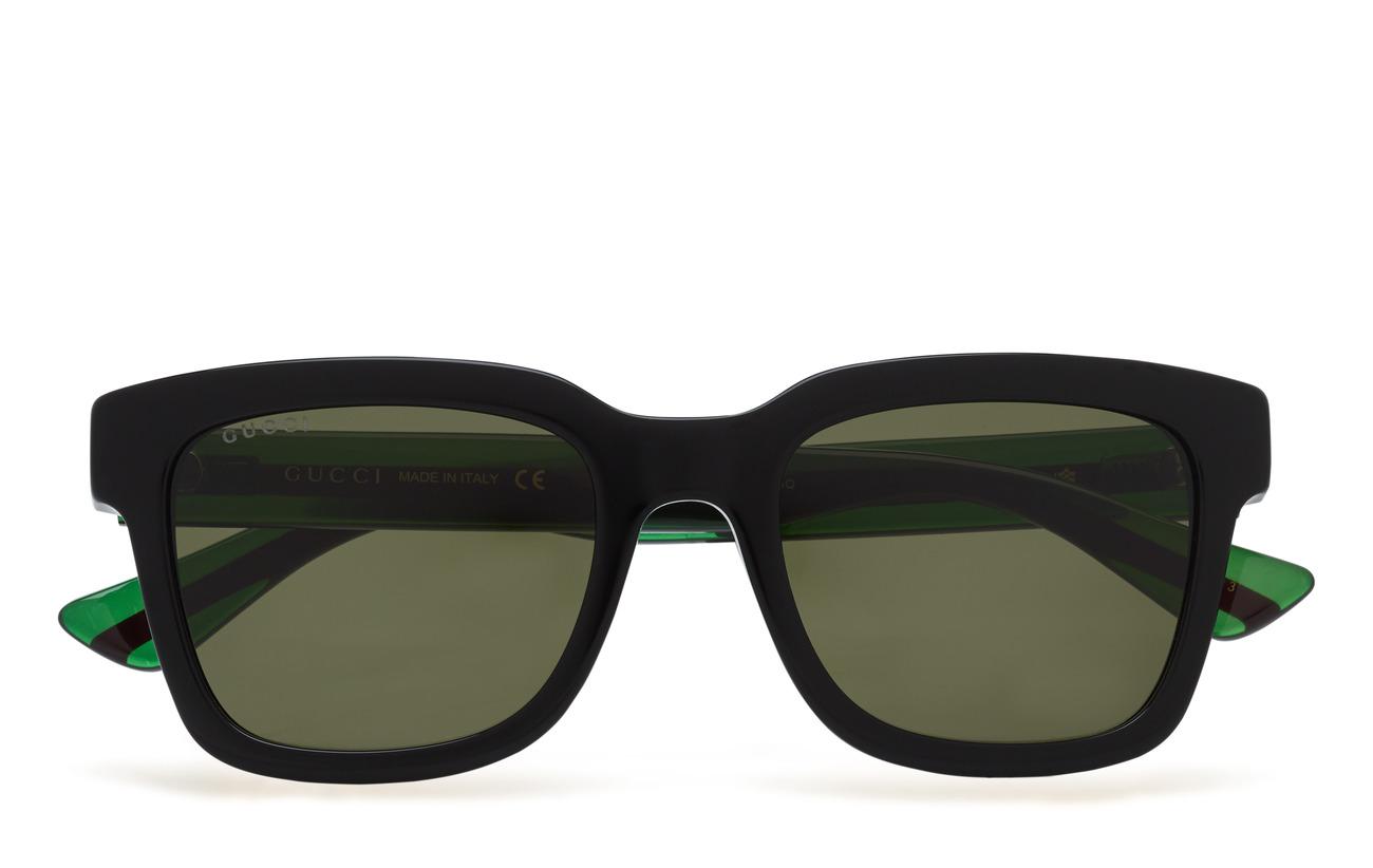 Gucci Sunglasses GG0001S - BLACK-GREEN-GREEN