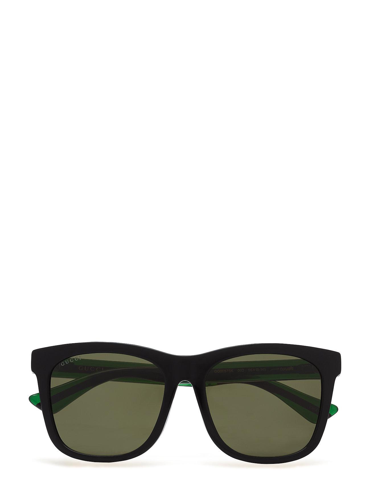 4820f2e97d7e Gucci wayfarer solbriller – Gg0057sk til herre i BLACK-GREEN-GREEN ...