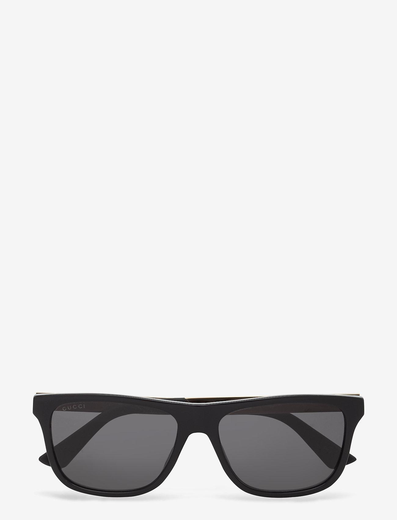 Gucci Sunglasses - GG0687S - okulary przeciwsłoneczne w kształcie litery d - black-black-grey - 0