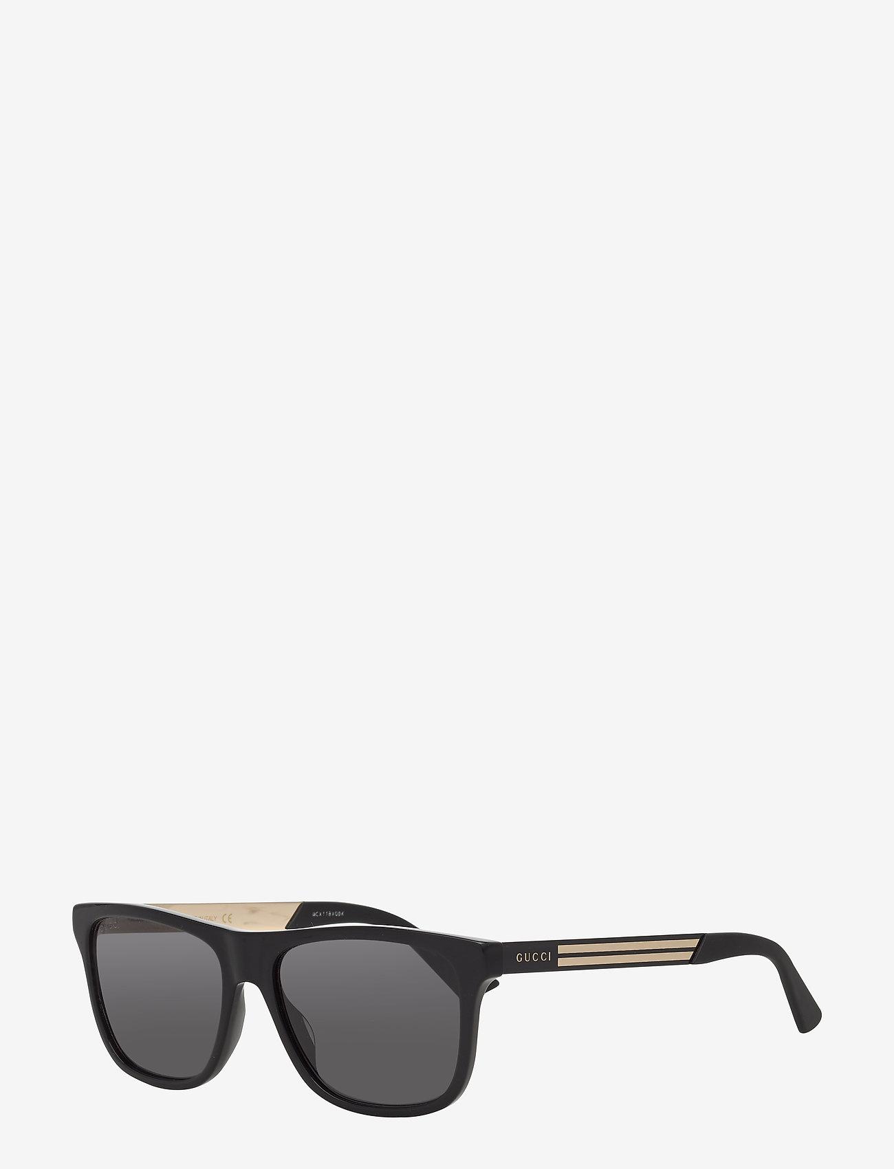 Gucci Sunglasses - GG0687S - okulary przeciwsłoneczne w kształcie litery d - black-black-grey - 1