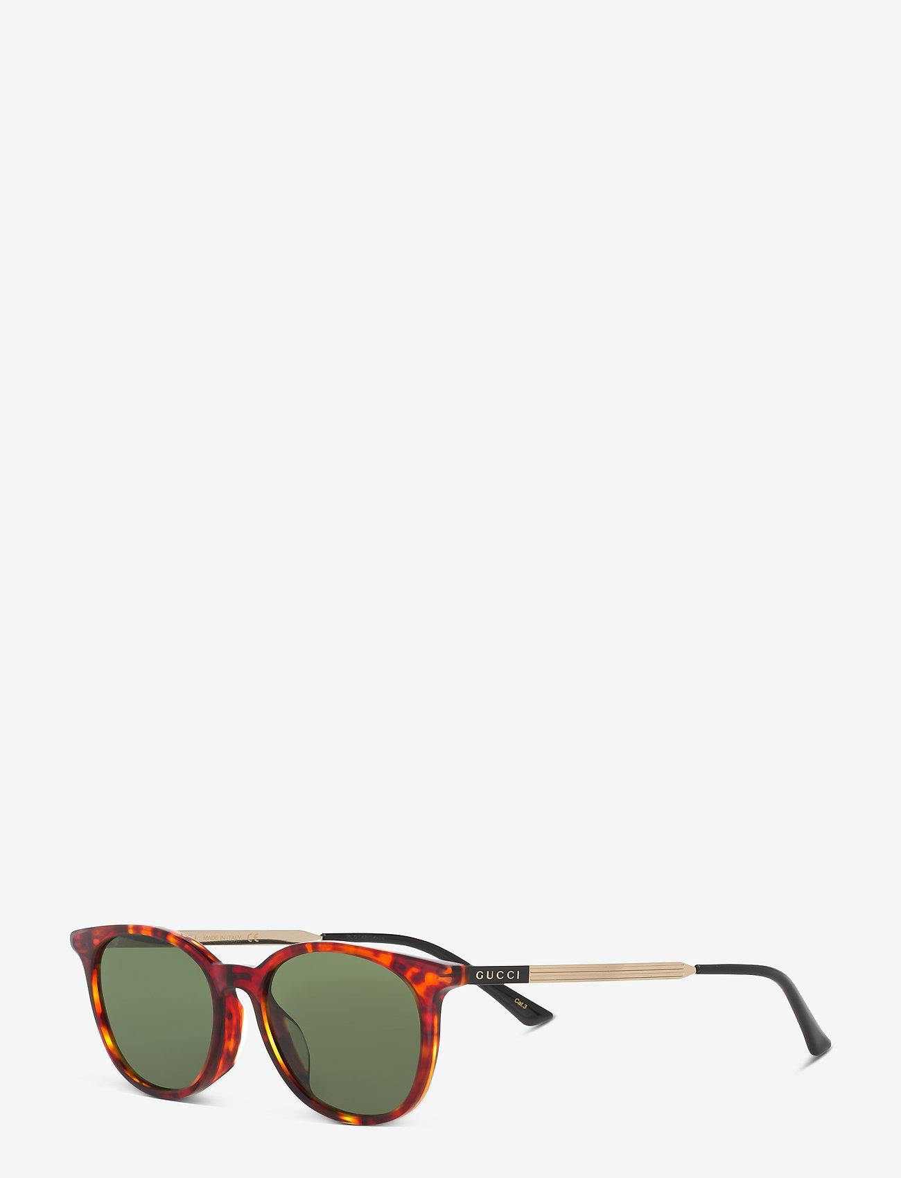 Gucci Sunglasses - GG0830SK - rund ramme - havana-gold-green - 1