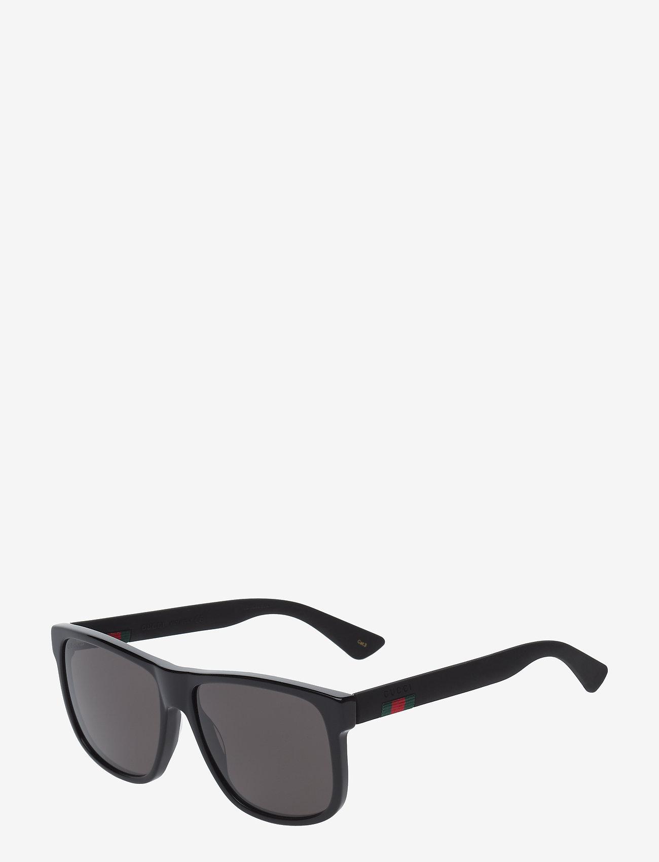 Gucci Sunglasses - GG0010S - black-black-grey - 1