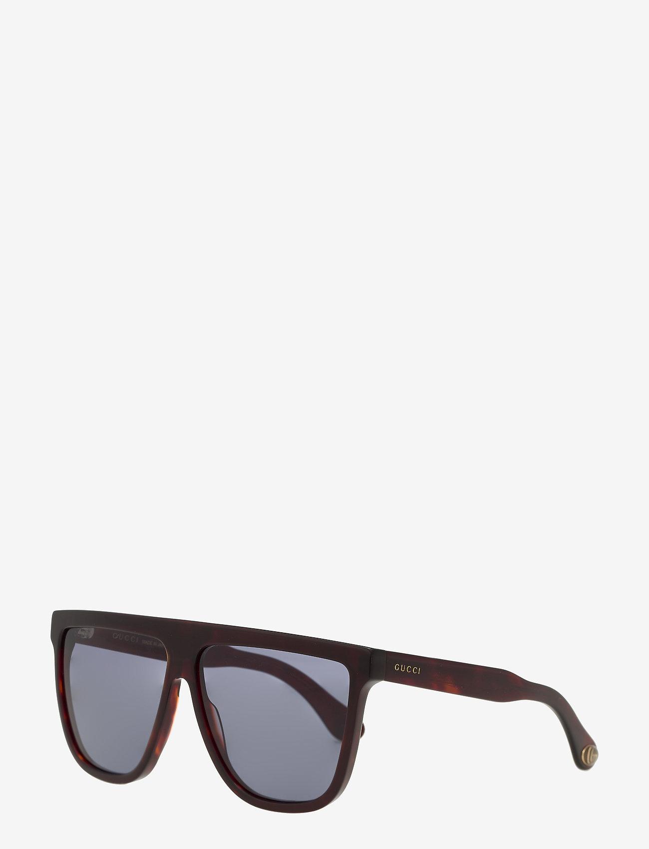 Gucci Sunglasses - GG0582S - okulary przeciwsłoneczne w kształcie litery d - havana-havana-blue - 1