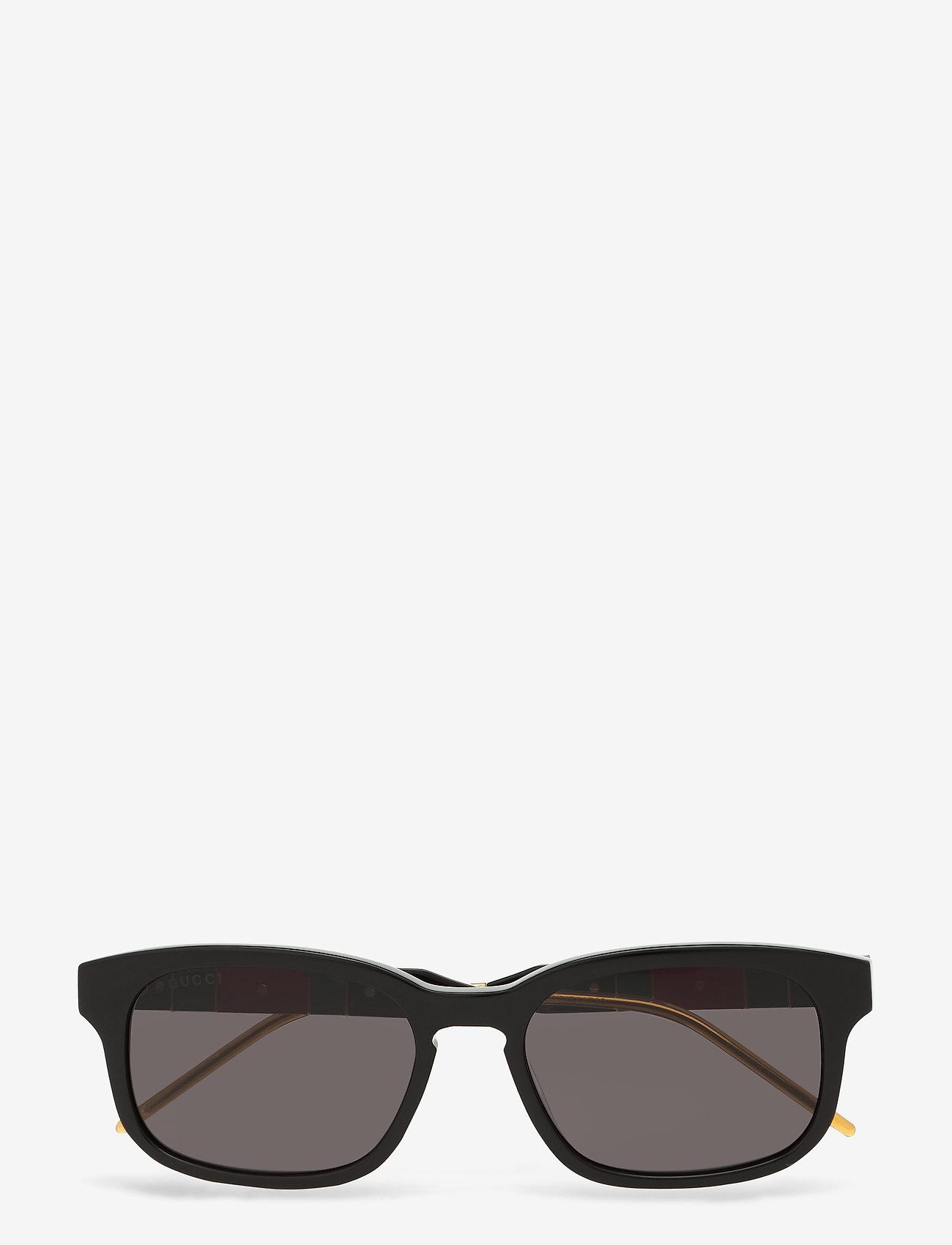 Gucci Sunglasses - GG0602S - okulary przeciwsłoneczne w kształcie litery d - black-black-grey - 0