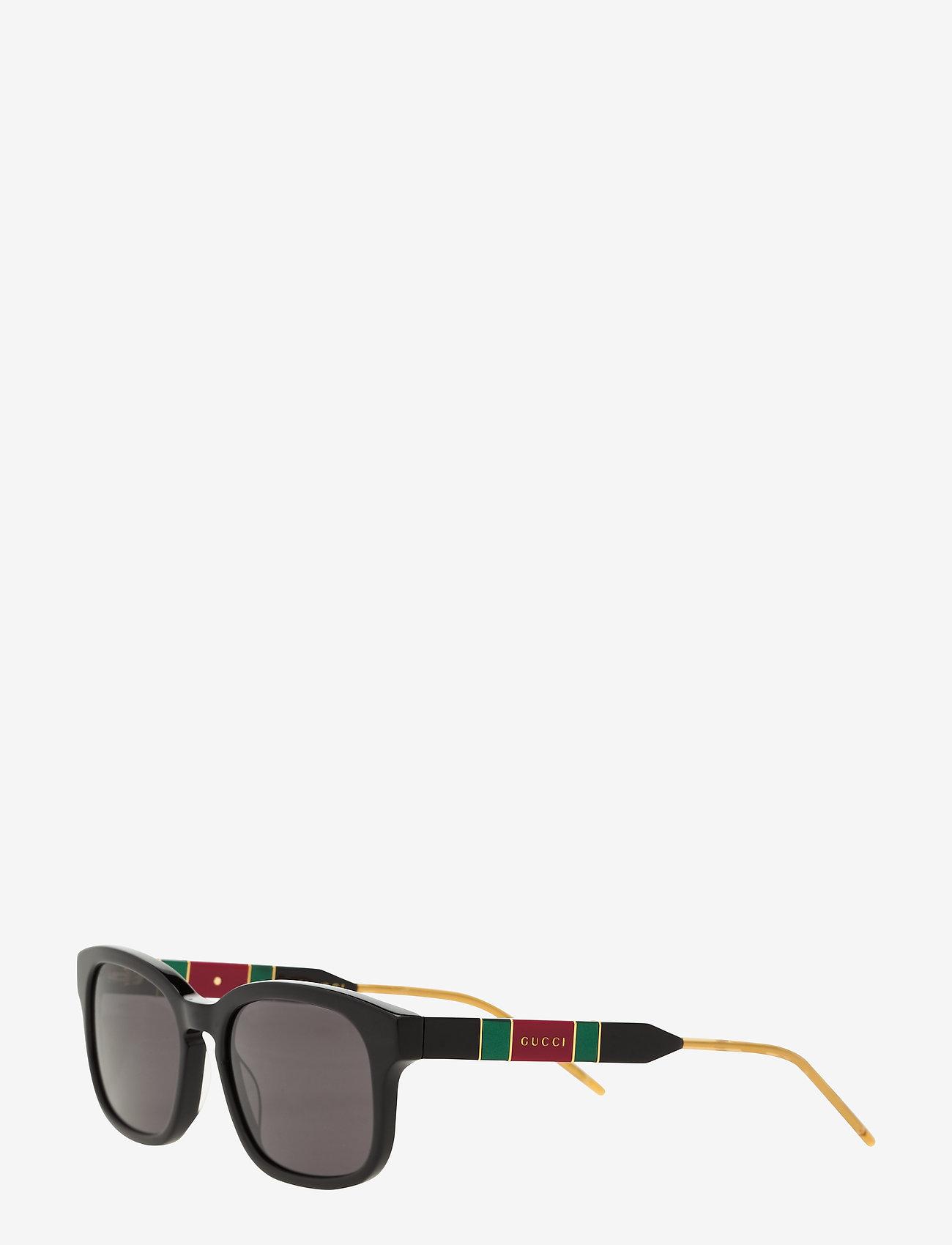 Gucci Sunglasses - GG0602S - okulary przeciwsłoneczne w kształcie litery d - black-black-grey - 1