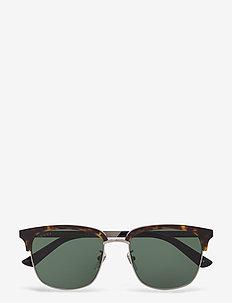 GG0697S - okulary przeciwsłoneczne w kształcie litery d - havana-ruthenium-green