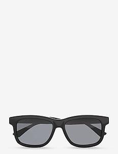 GG0824S - d-vormige zonnebril - black-black-grey