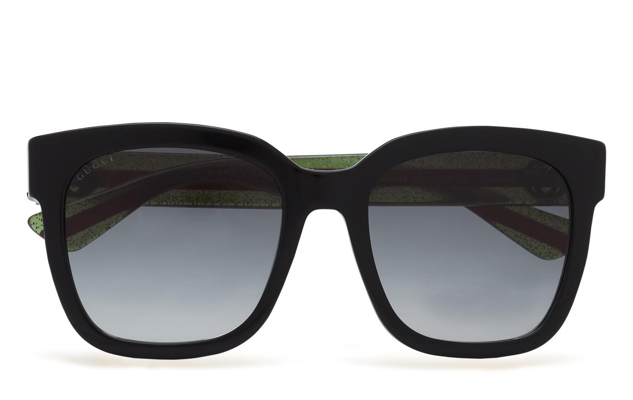 Gucci Sunglasses GG0034S - BLACK-GREEN-GREY