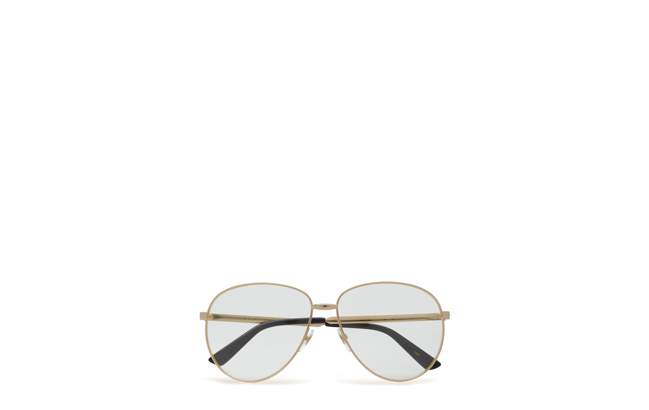 Gucci Sunglasses GG0138S - GOLD-GOLD-TRANSPARENT