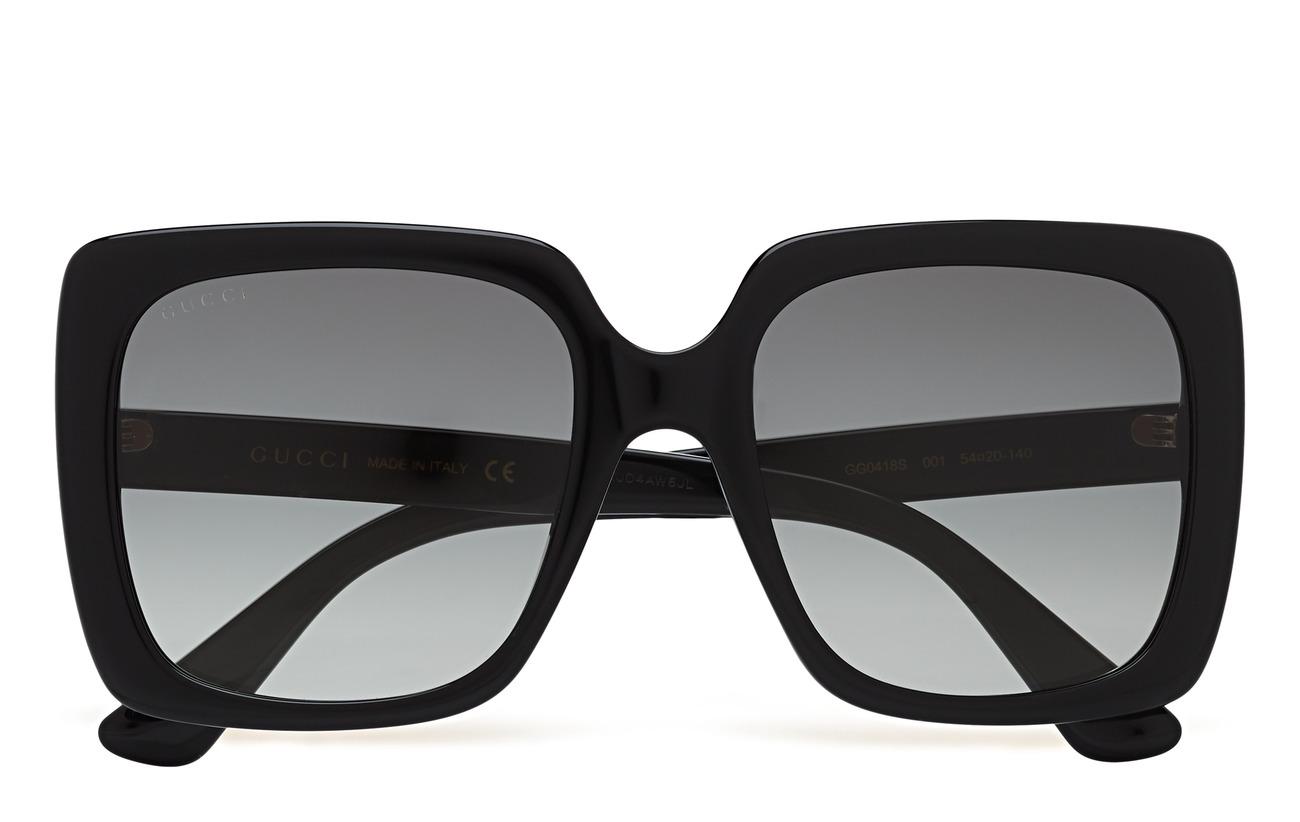 Gucci Sunglasses GG0418S - BLACK-BLACK-GREY