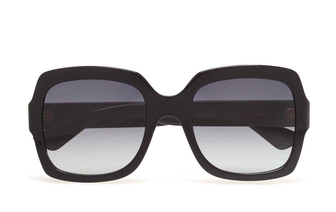 Gucci Sunglasses GG0036S - BLACK-BLACK-GREY