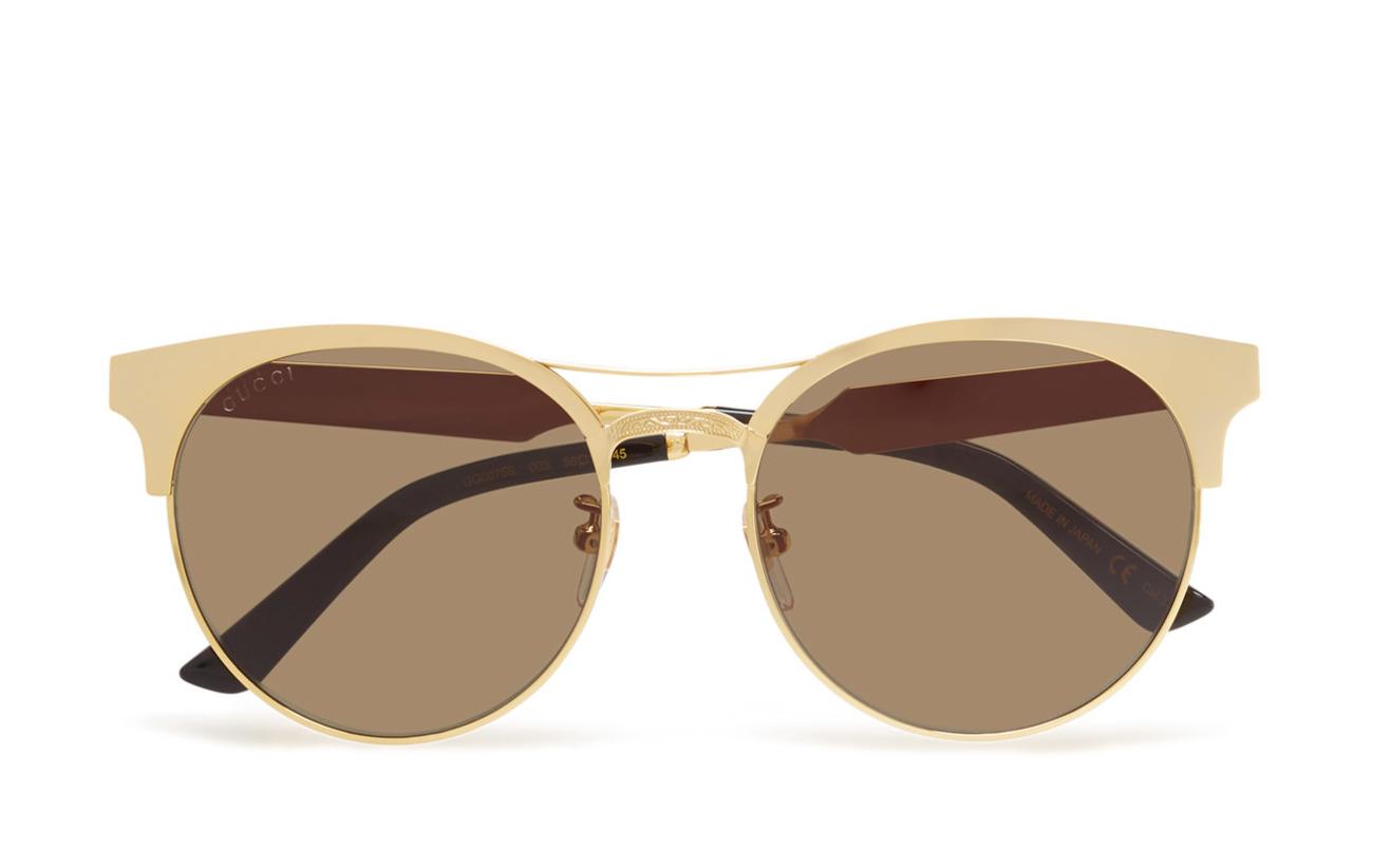 Gucci Sunglasses GG0075S - GOLD-GOLD-GREEN