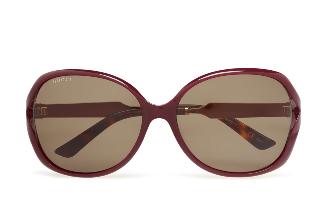 Gucci Sunglasses GG0076S - BURGUNDY-GOLD-GREEN