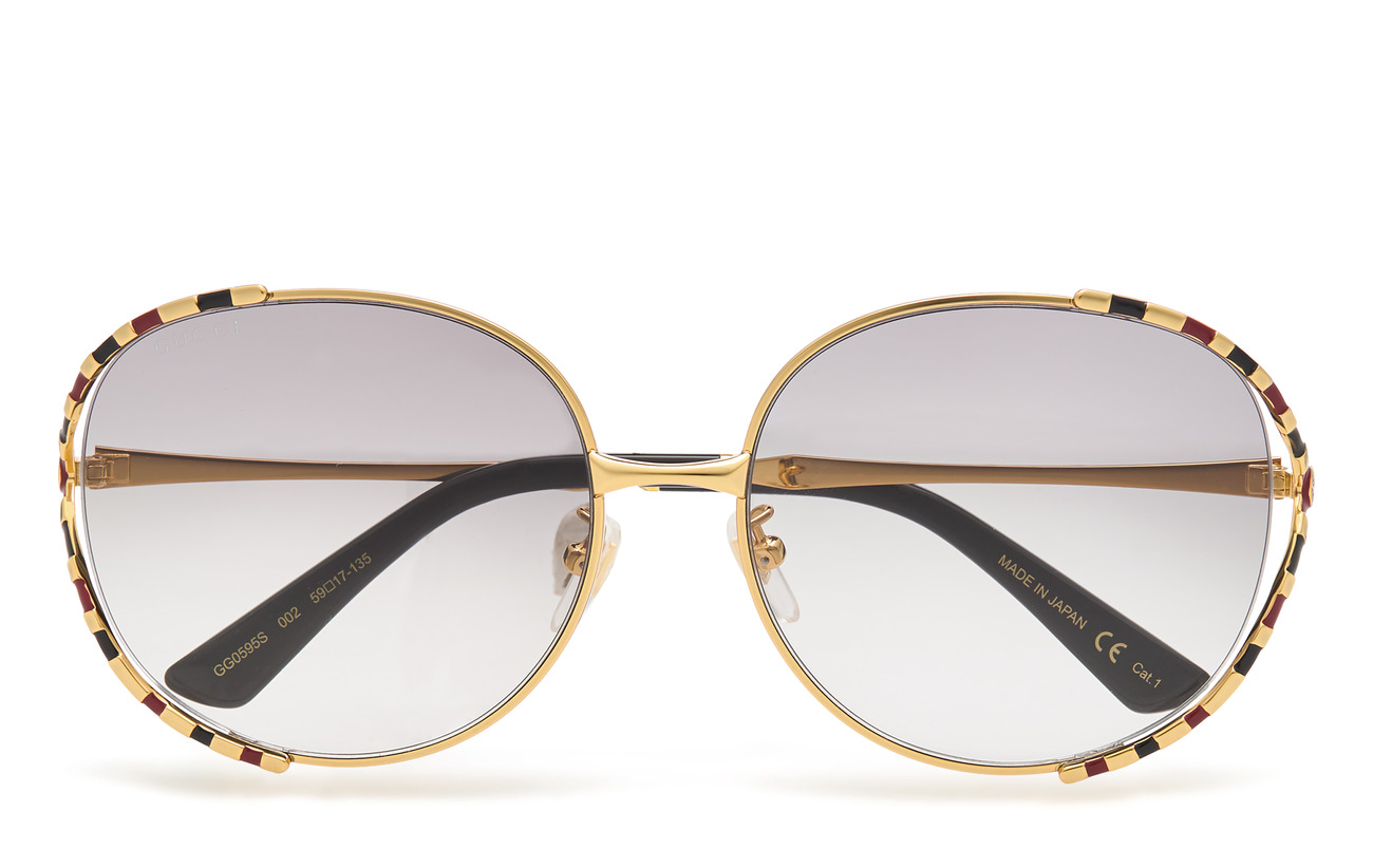 Gucci Sunglasses GG0595S - GOLD-GOLD-GREY
