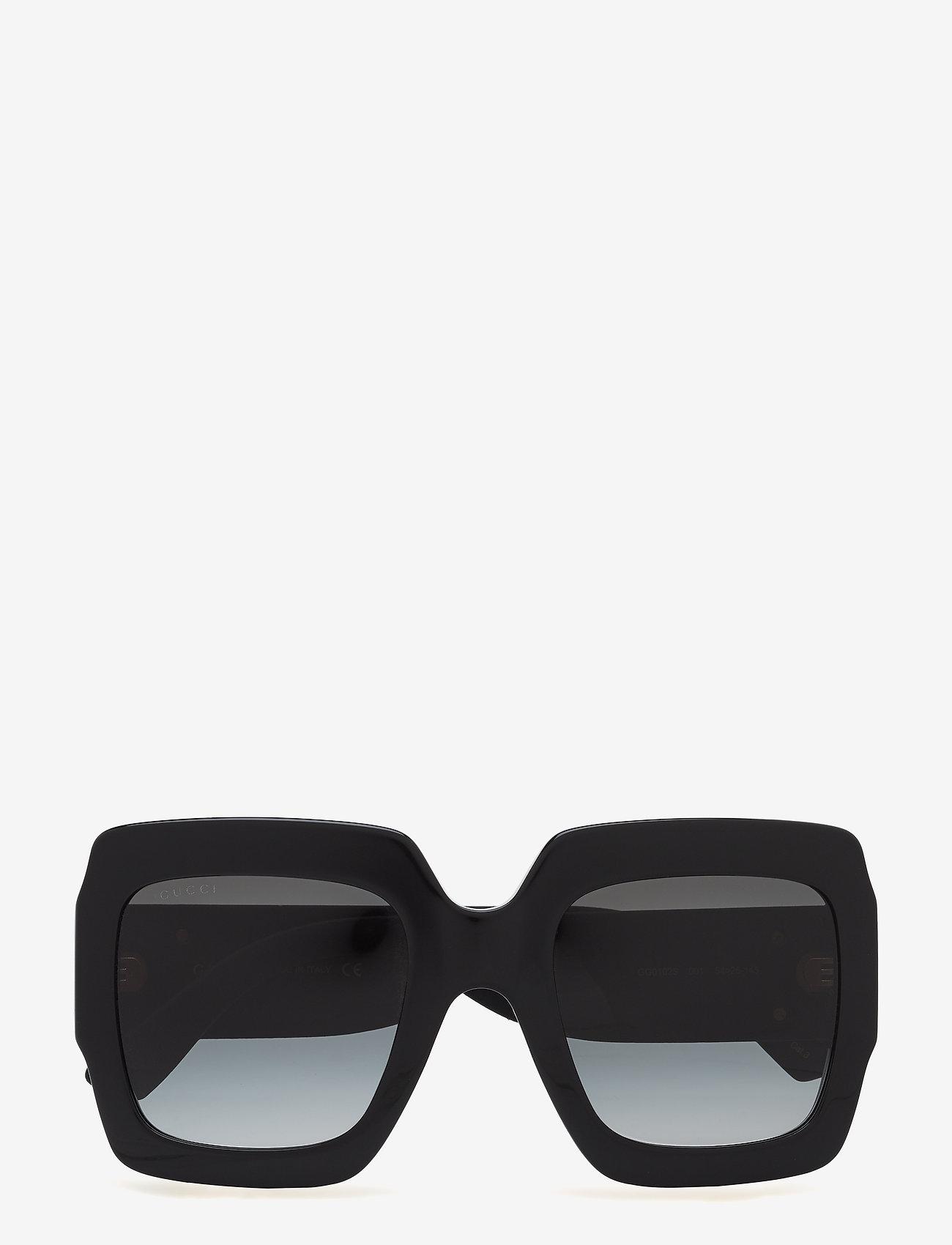 Gucci Sunglasses - GG0102S - firkantet stel - black-black-grey - 0