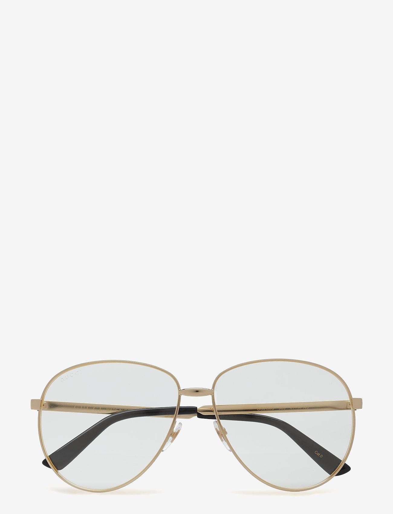 Gucci Sunglasses - GG0138S - okulary przeciwsłoneczne aviator - gold-gold-transparent - 0