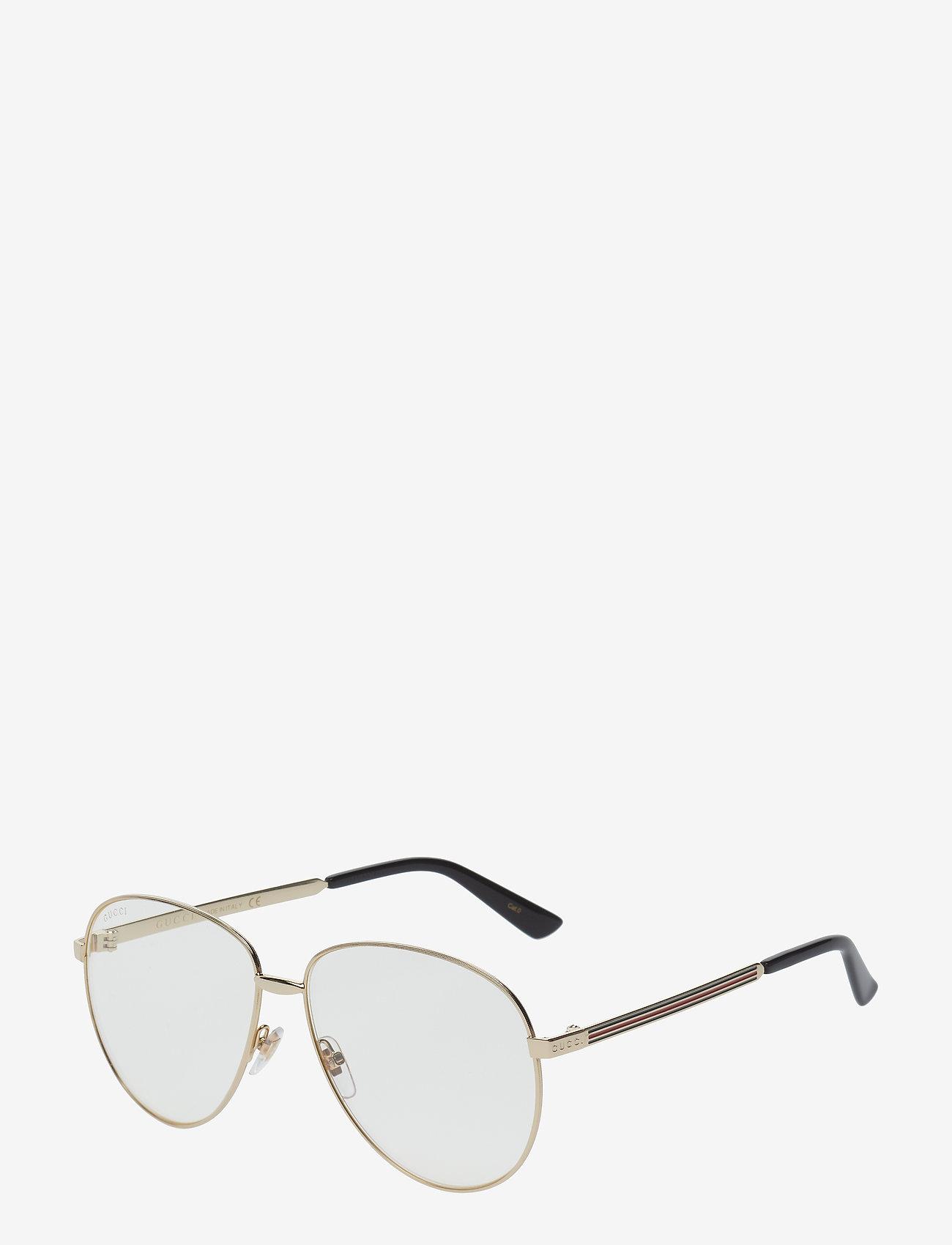 Gucci Sunglasses - GG0138S - okulary przeciwsłoneczne aviator - gold-gold-transparent - 1