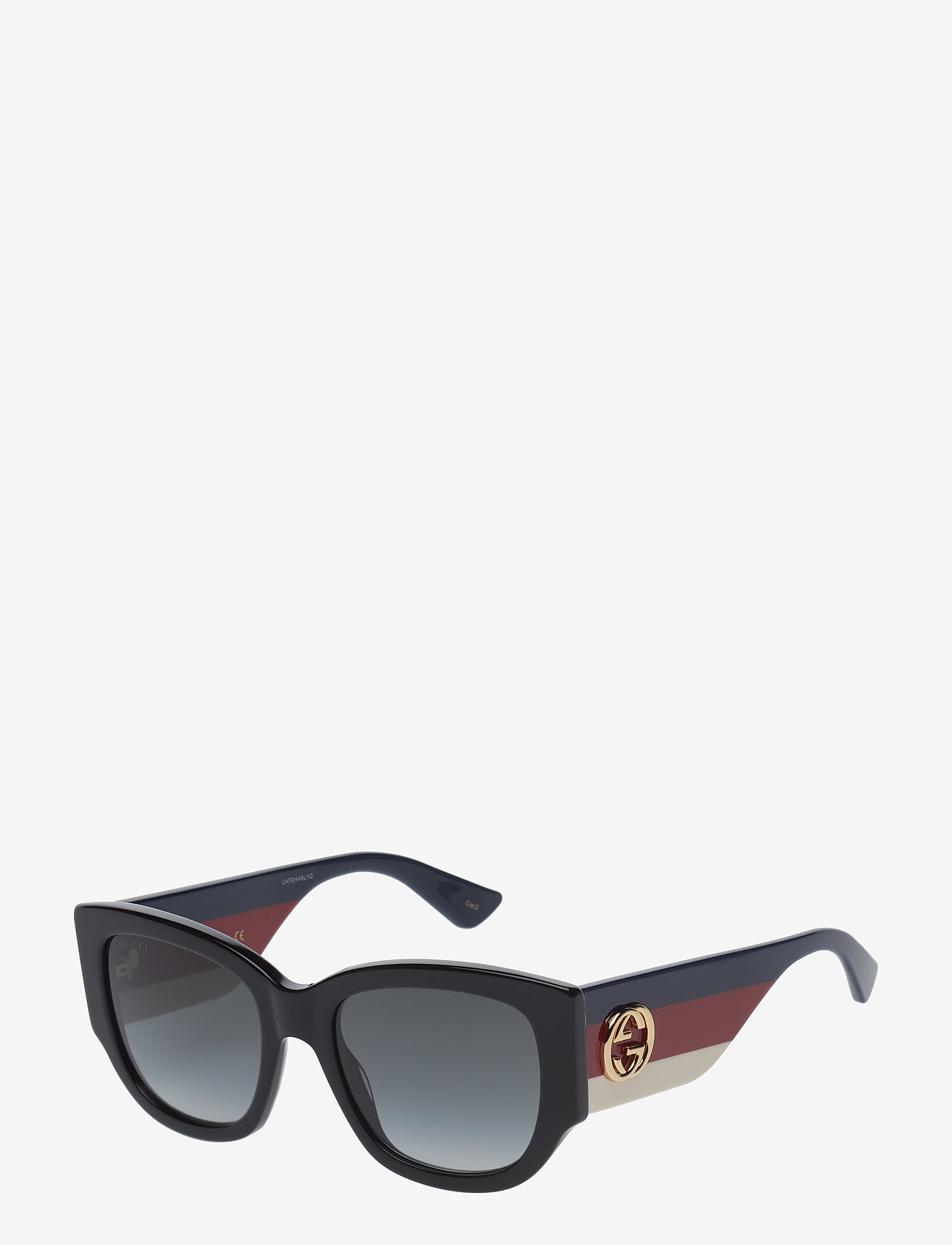 Gucci Sunglasses - GG0276S - d-shaped - black-multicolor-grey - 1