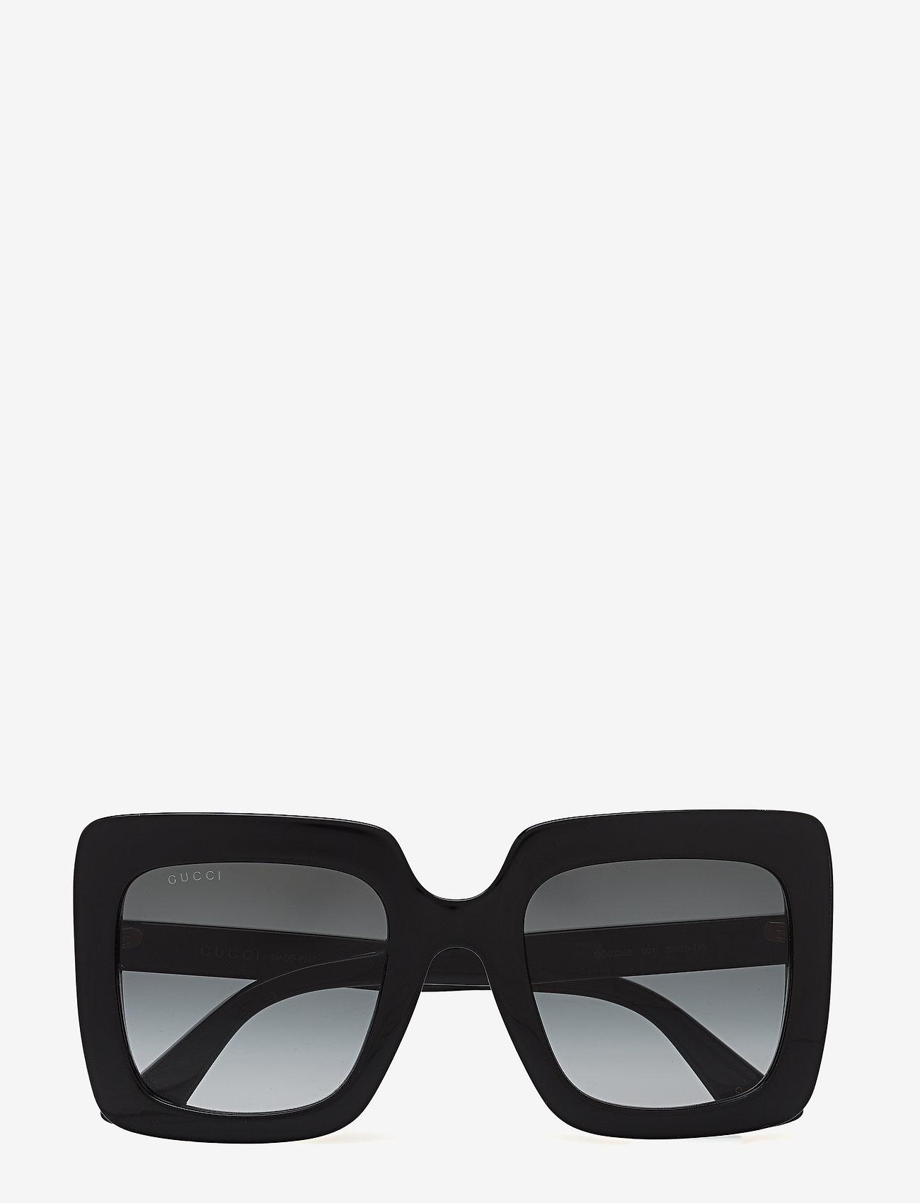 Gucci Sunglasses - GG0328S - firkantet stel - black-black-grey - 0