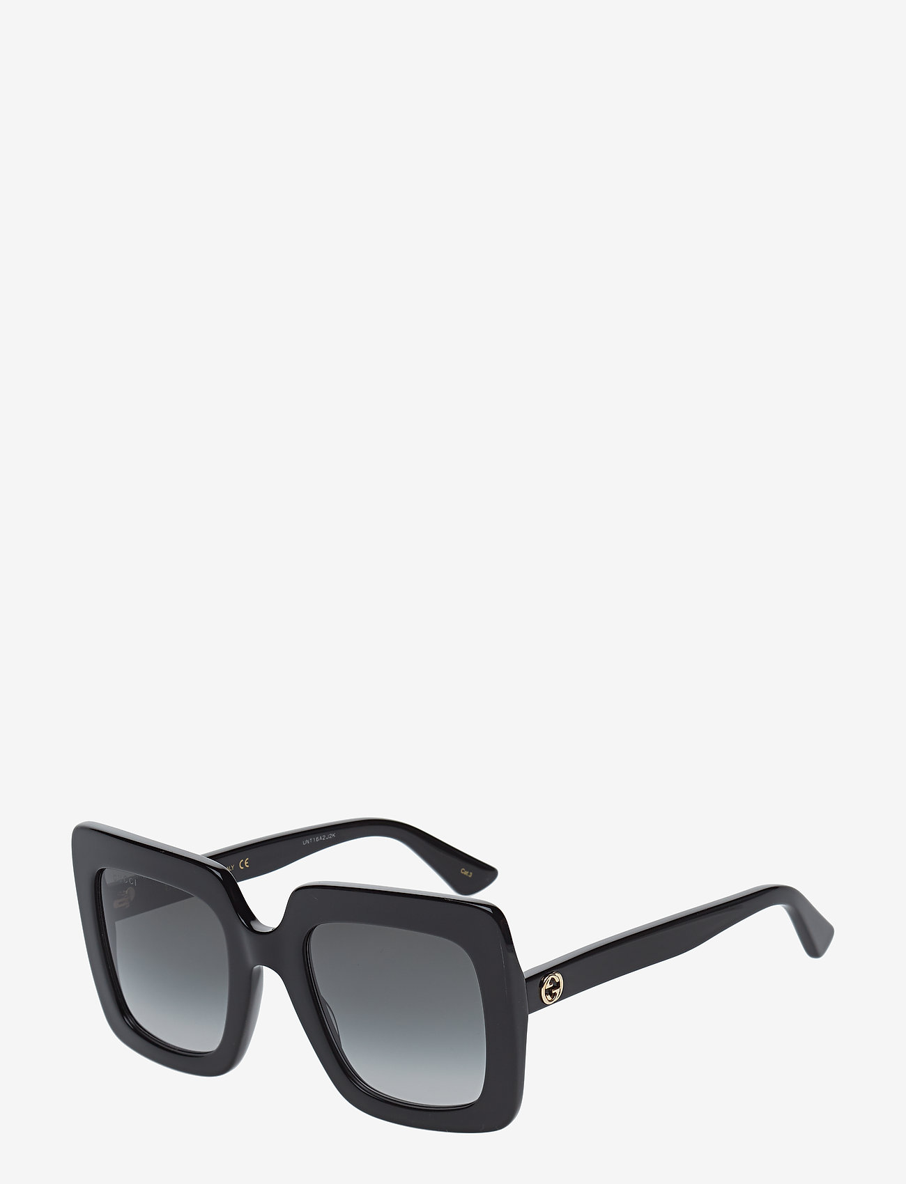 Gucci Sunglasses - GG0328S - firkantet stel - black-black-grey - 1