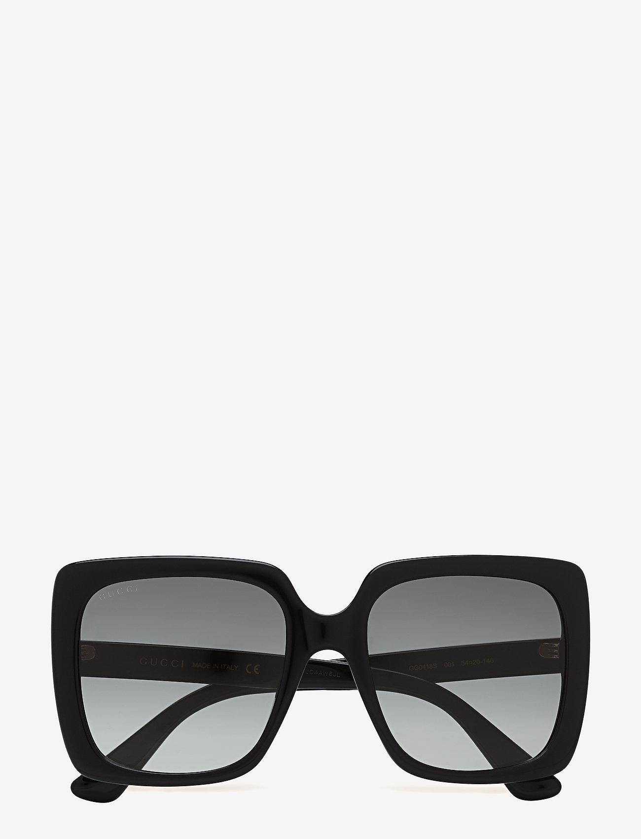 Gucci Sunglasses - GG0418S - firkantet stel - black-black-grey - 0