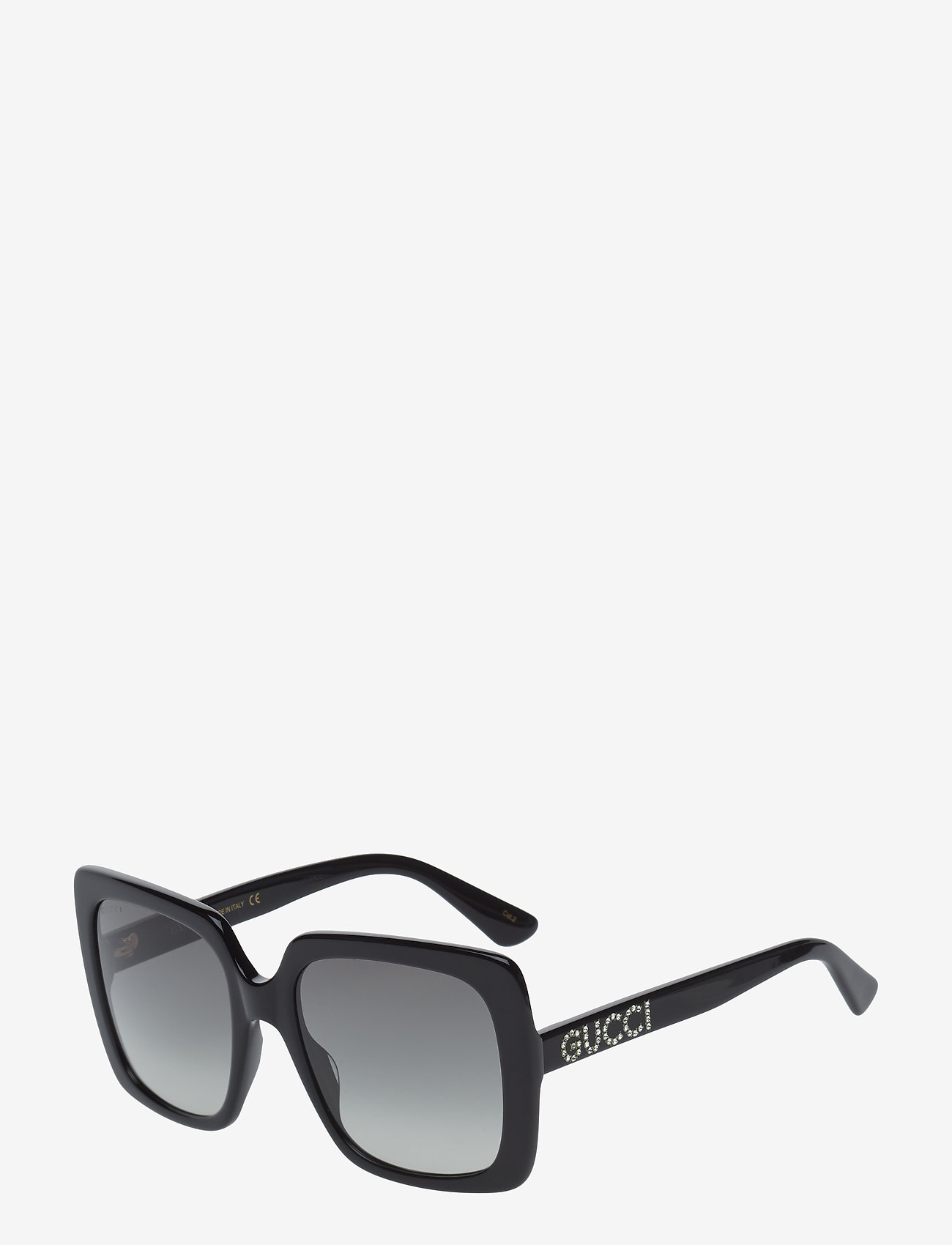Gucci Sunglasses - GG0418S - neliökehys - black-black-grey - 1