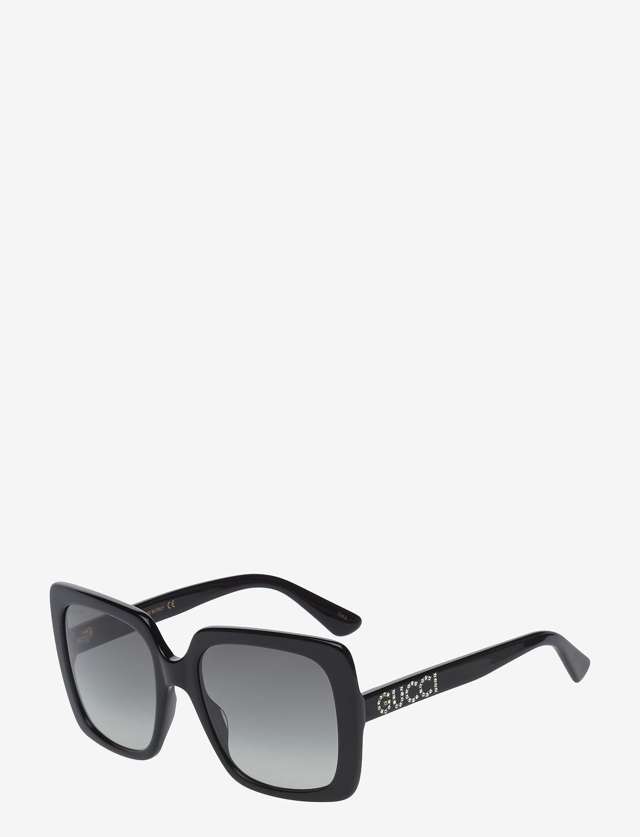 Gucci Sunglasses - GG0418S - firkantet stel - black-black-grey - 1