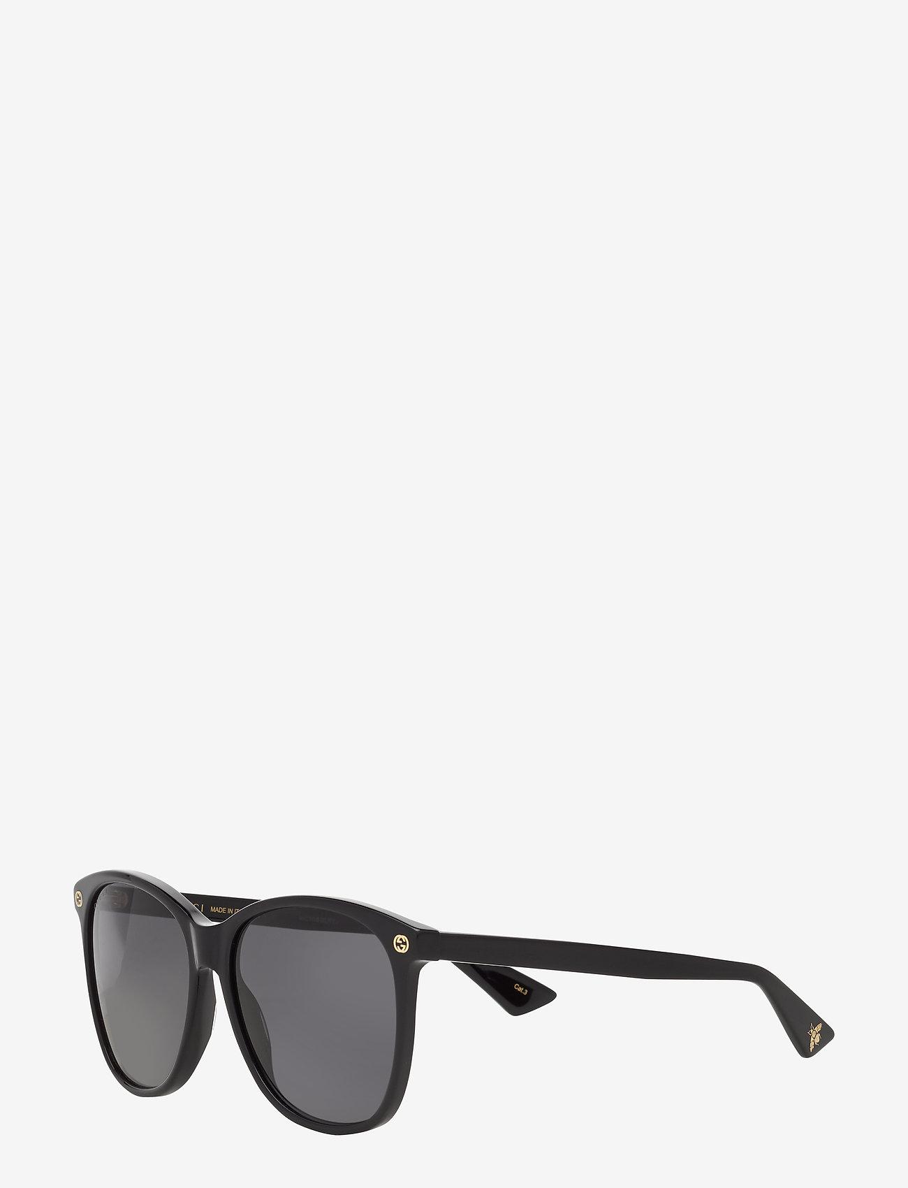 Gucci Sunglasses - GG0024S - d-shaped - black-black-grey - 1