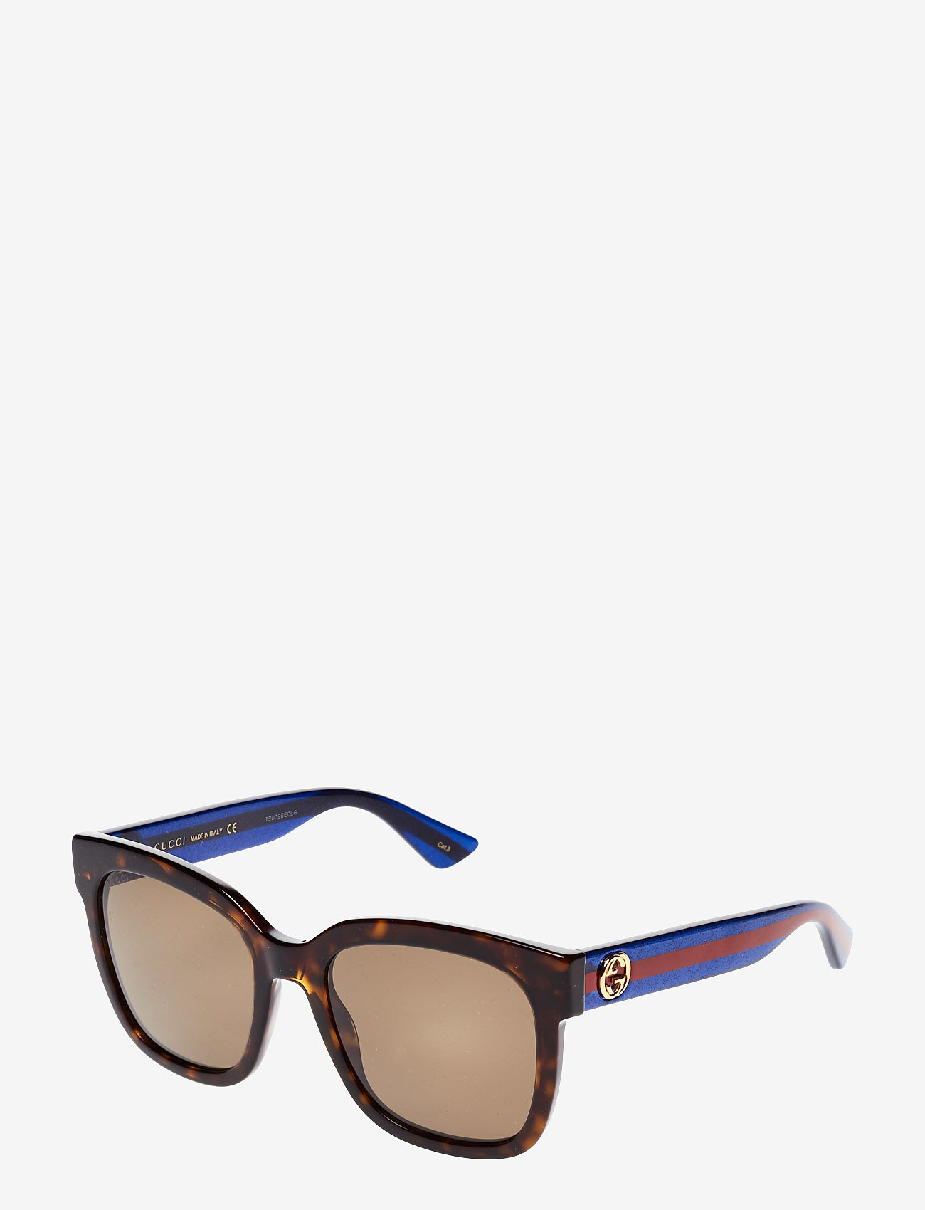 Gucci Sunglasses - GG0034S - d-shaped - avana-blue-brown - 1