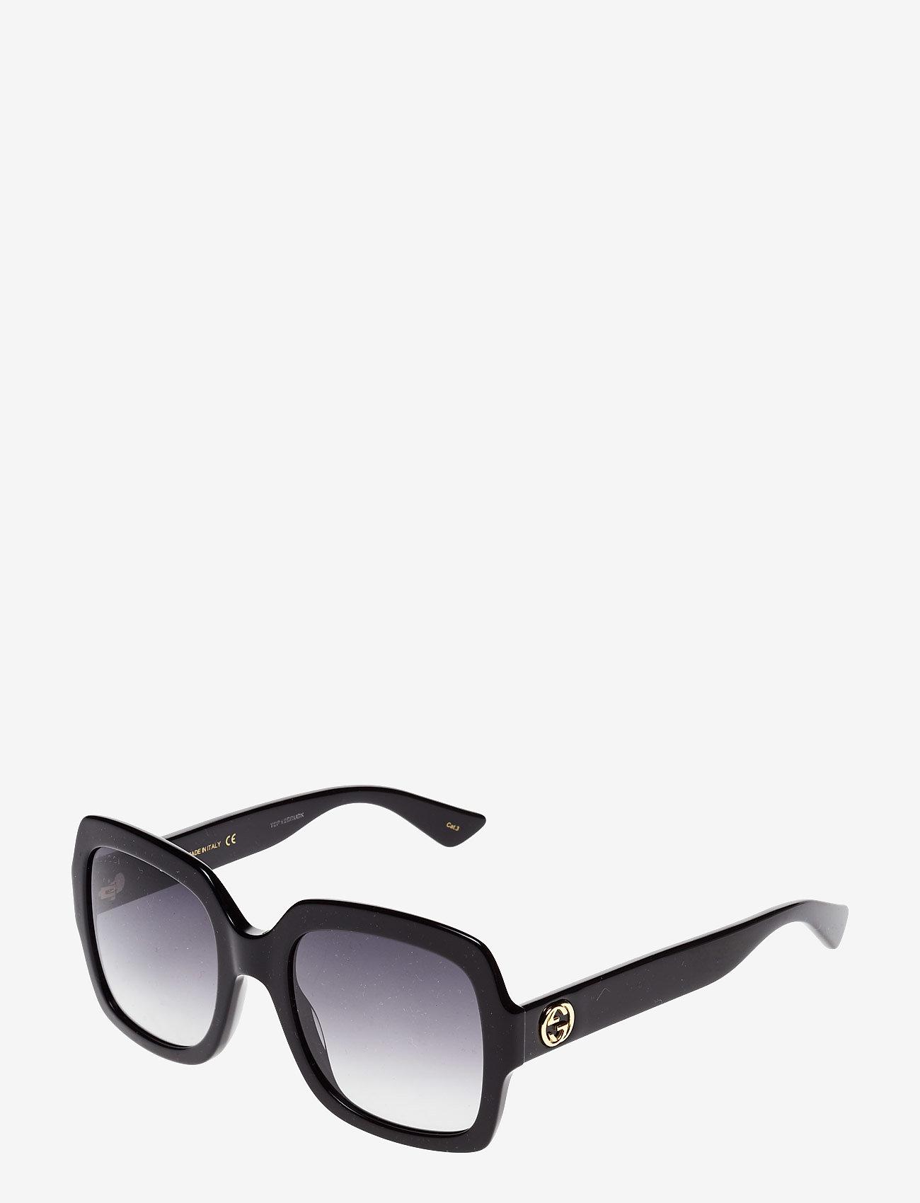 Gucci Sunglasses - GG0036S - square frame - black-black-grey - 1