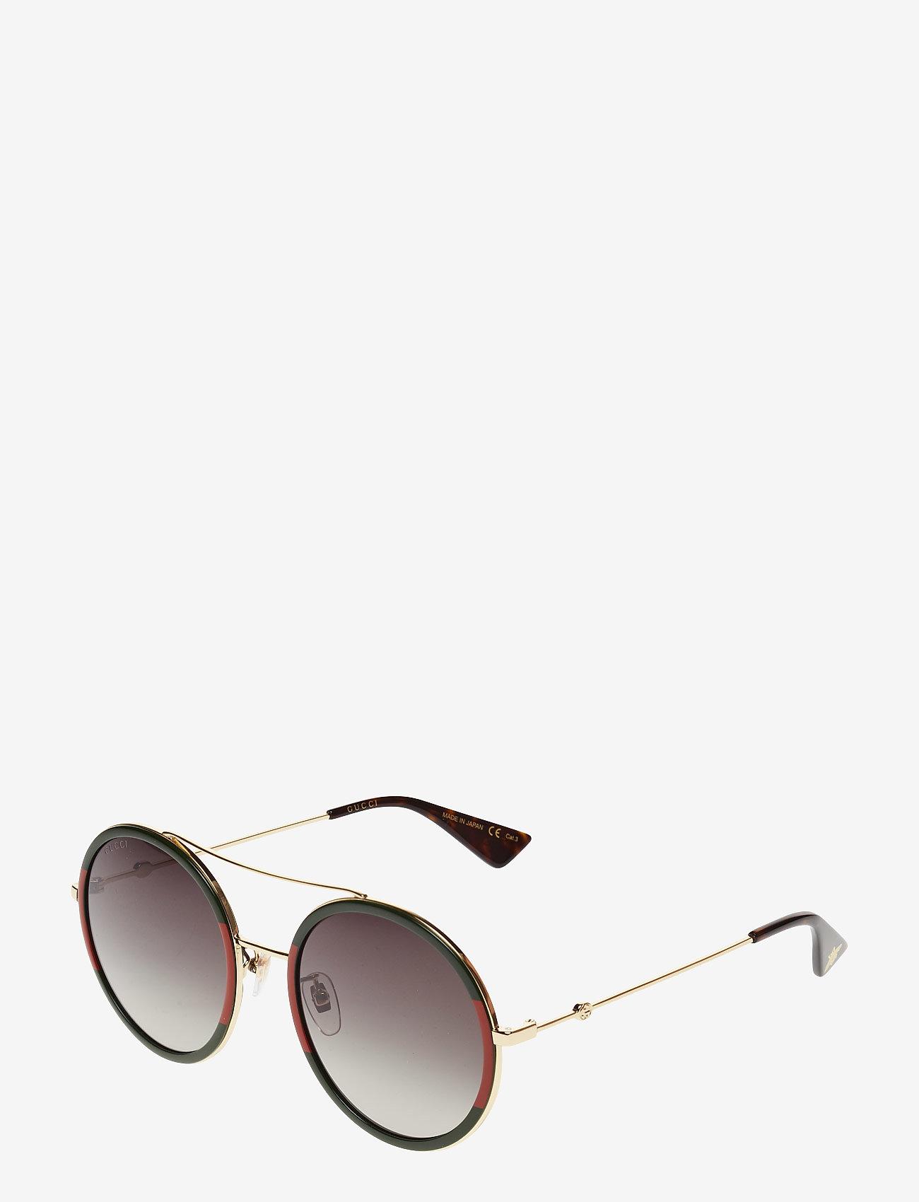 Gucci Sunglasses - GG0061S - rond model - gold-gold-green - 1