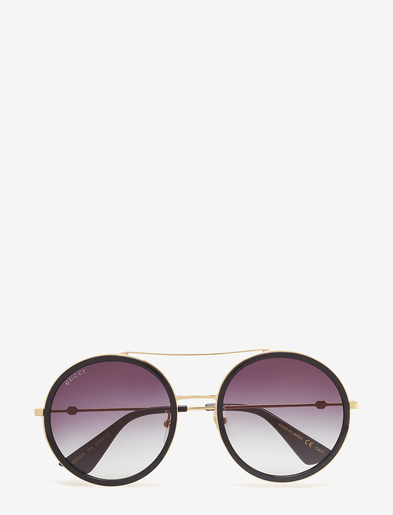 Gucci Sunglasses - GG0061S - round frame - gold-gold-grey - 0