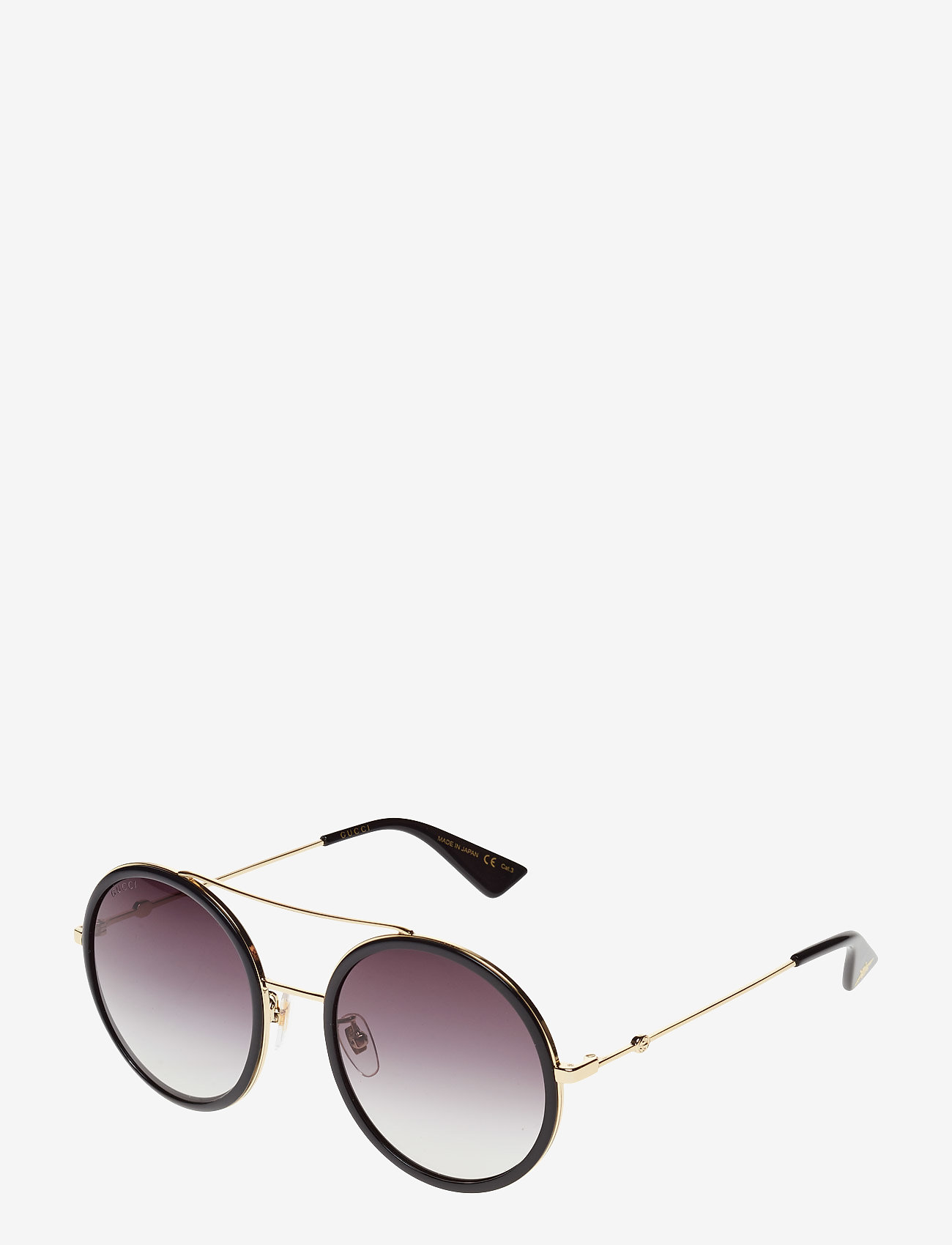 Gucci Sunglasses - GG0061S - round frame - gold-gold-grey - 1