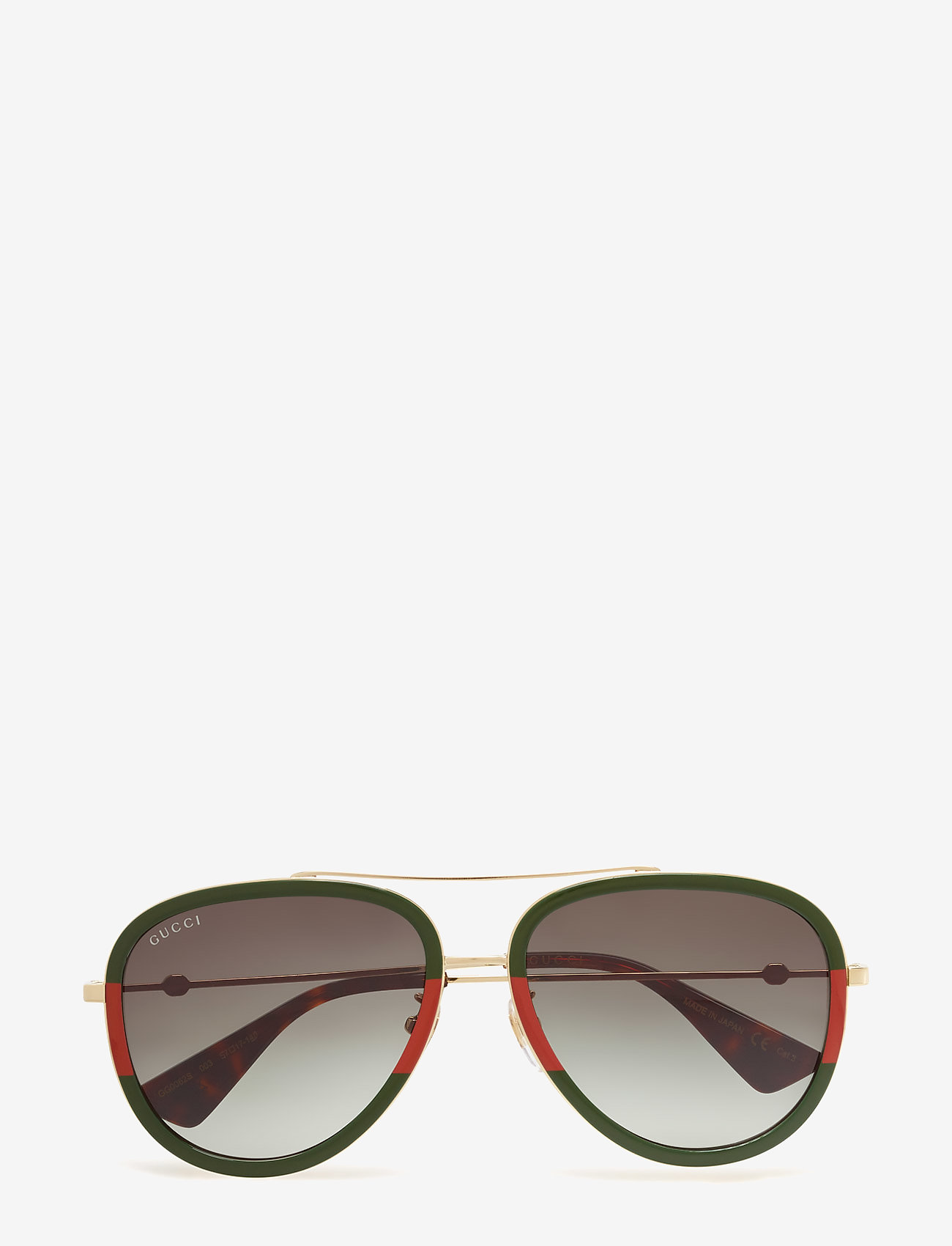 Gucci Sunglasses - GG0062S - pilot - gold-gold-green - 0