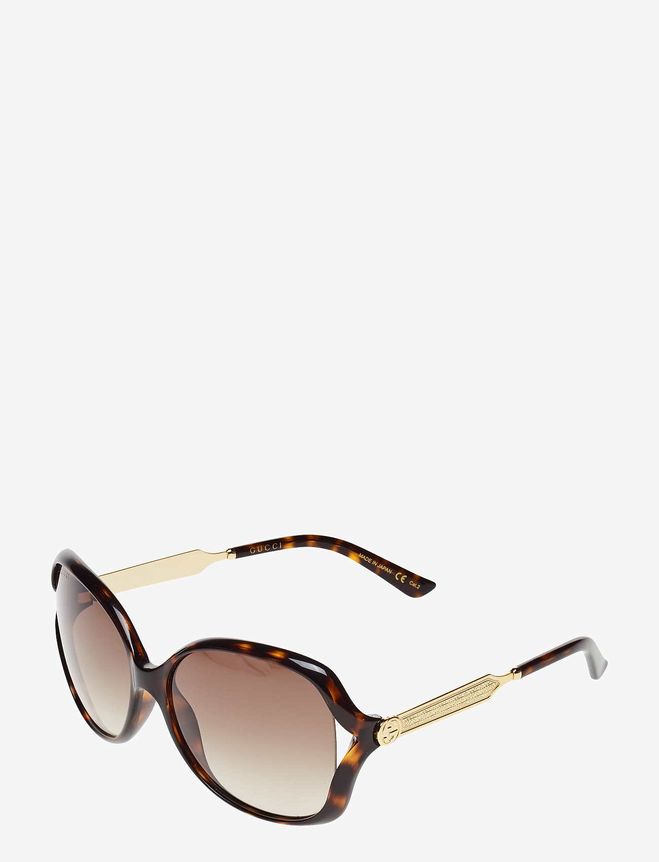 Gucci Sunglasses - GG0076S - round frame - avana-gold-brown - 1