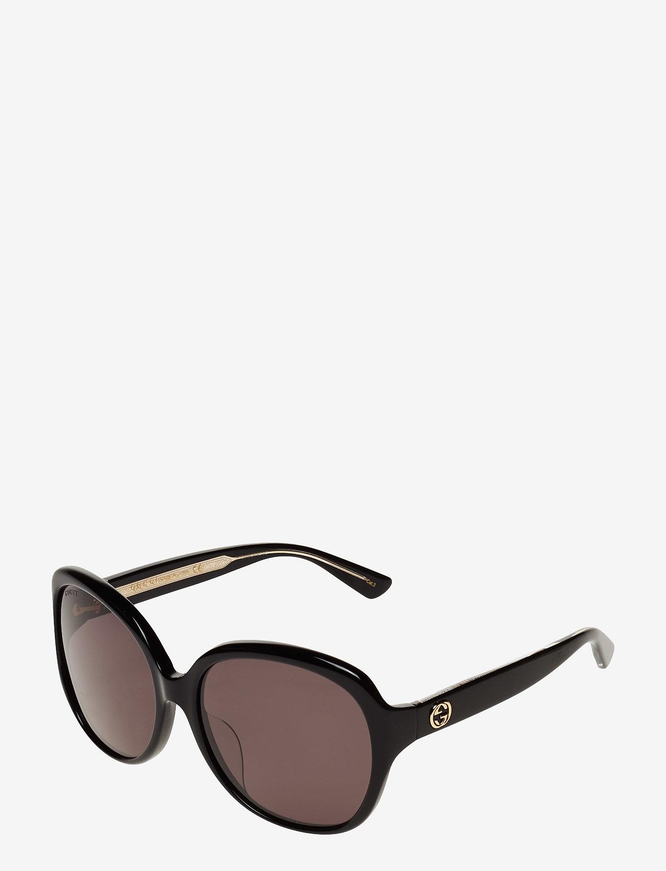 Gucci Sunglasses - GG0080SK - round frame - black-black-grey - 1