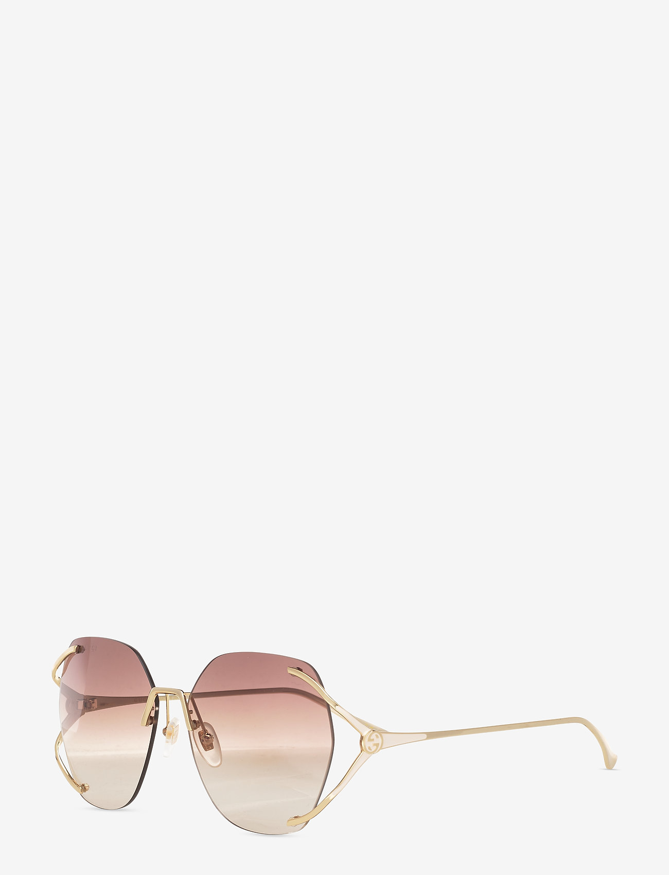 Gucci Sunglasses - GG0651S - rond model - gold-gold-brown - 1
