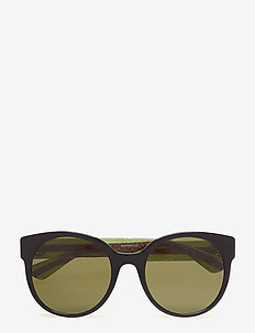 GG0035S - cat-eye - black-green-green