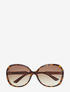 GG0076S - round frame - avana-gold-brown
