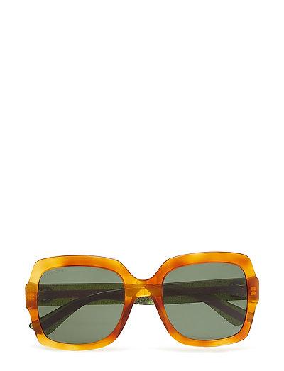 Gg0036s Rechteckige Sonnenbrille Braun GUCCI SUNGLASSES