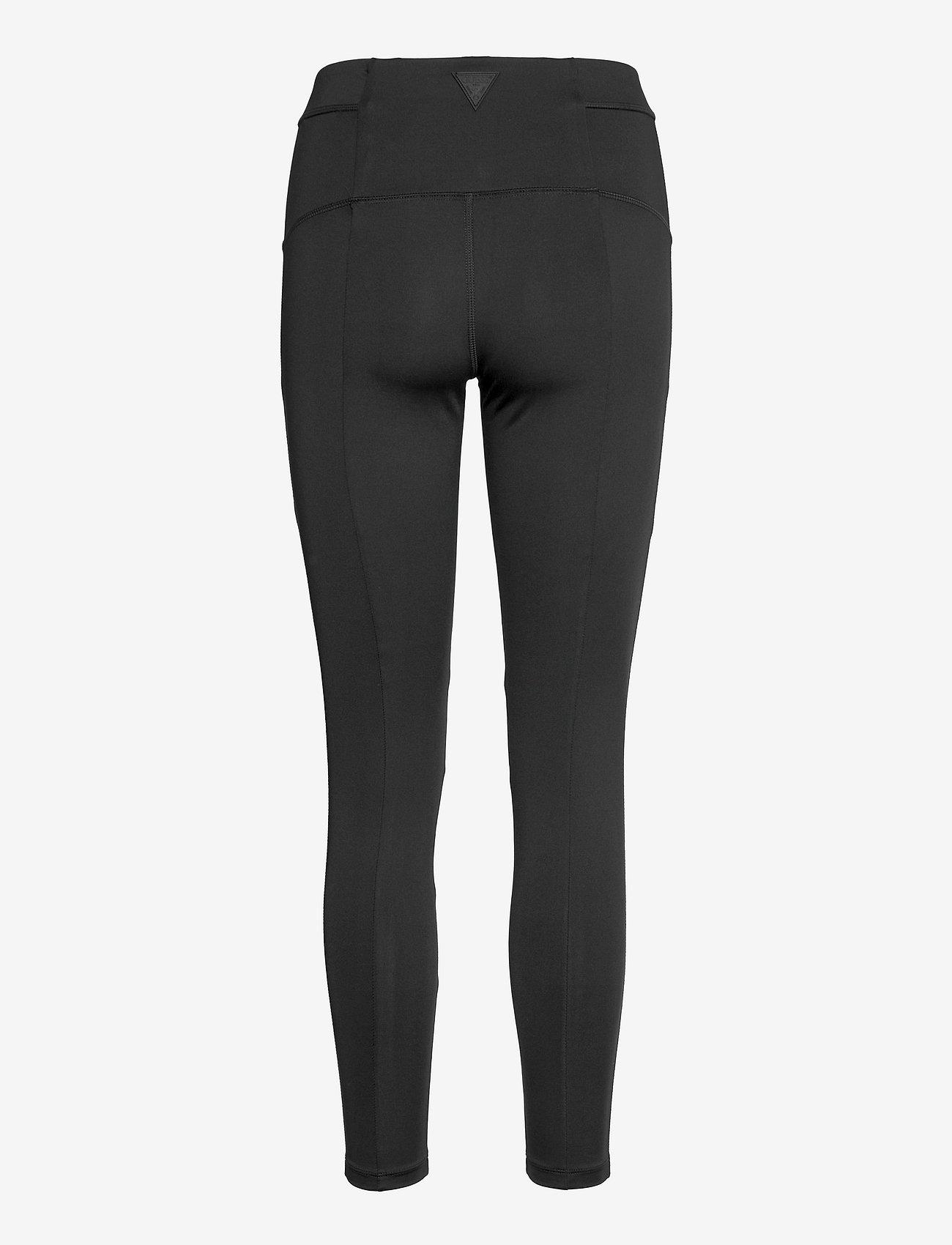 Guess Activewear - ANGELICA LEGGINGS 4/4 - löpnings- och träningstights - jet black a996 - 1