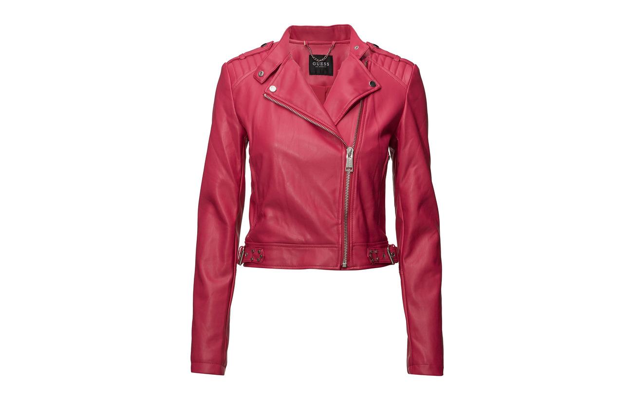Polyurethane Jacket Guess Red Eleonora Wildheart 100 Jeans YrE4nEq6g