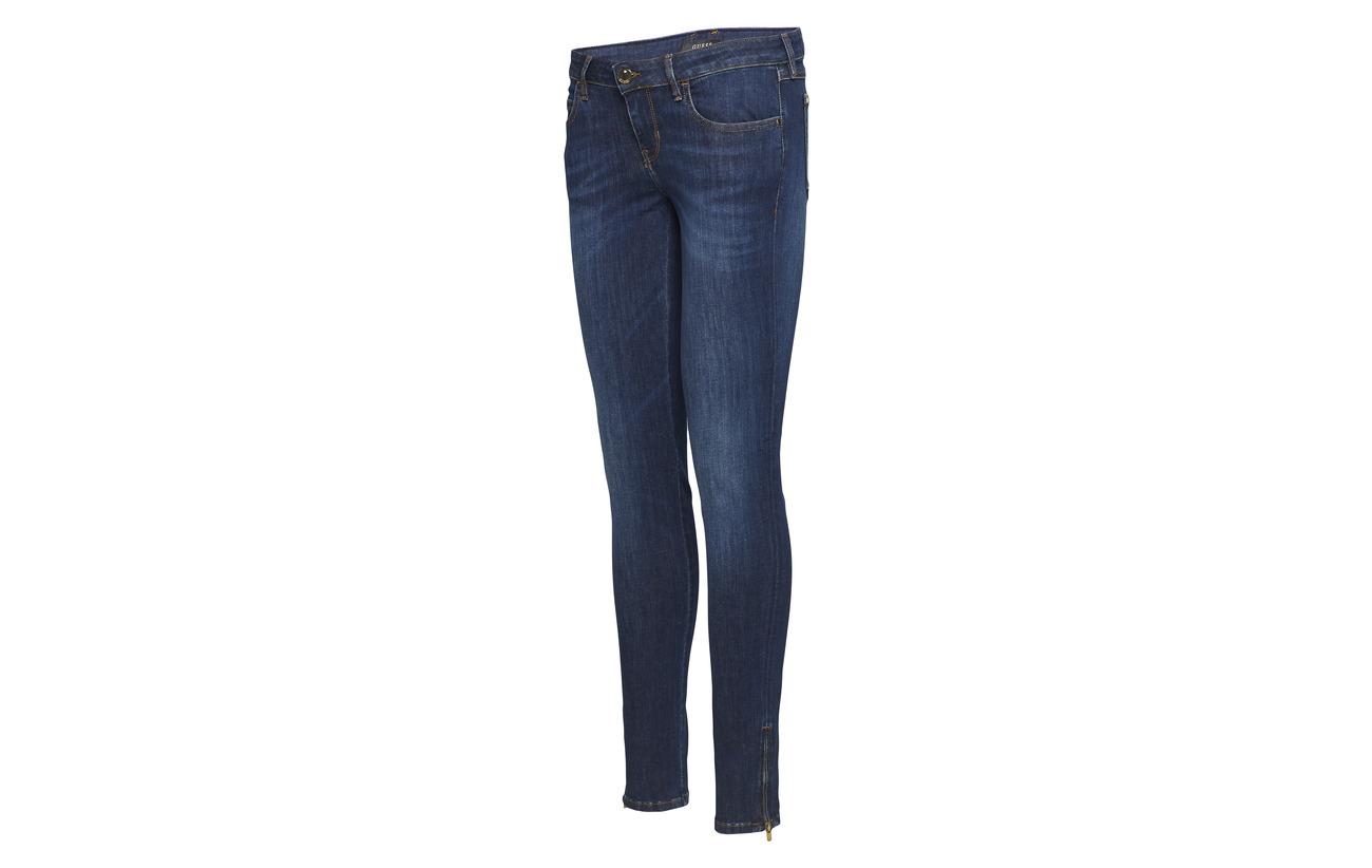 8 Ultimate Jeans Zip Marilyn Polyester 88 Elastane Guess 4 3 Coton Dark n8Iawqx