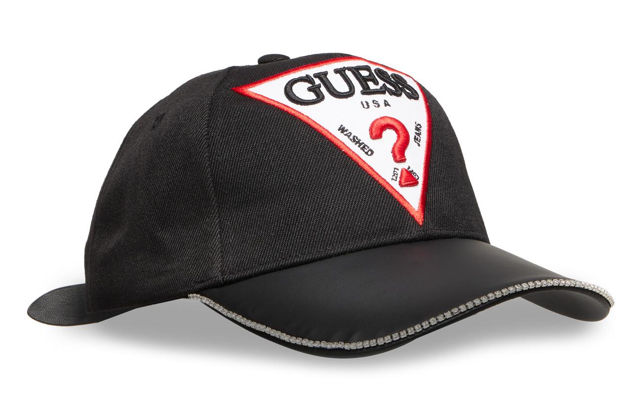 GUESS Jeans PU VISOR BASEBALL CAP - NOIR DE JAIS